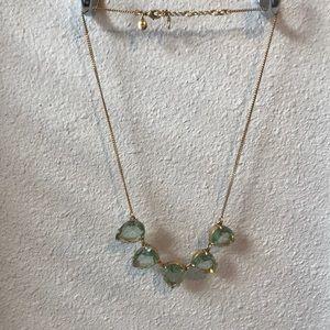 J.Crew aqua rhinestone necklace.